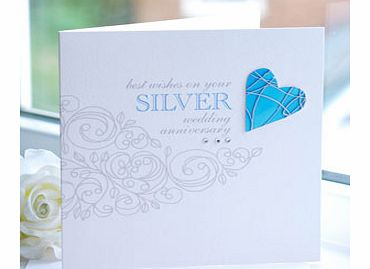 Silver Wedding Gift Ideas Uk : SILVER Wedding Anniversary Cardreview, compare prices, buy online
