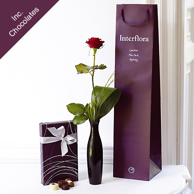 single rose gift set