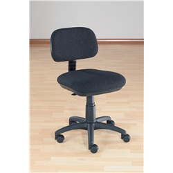 Charcoal Typist Chair. Adjustable Seat Height,