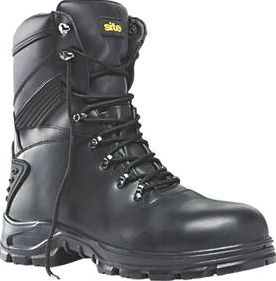 Site, 1228[^]78607 Flint Hi-Top Safety Boots Black Size 11 78607