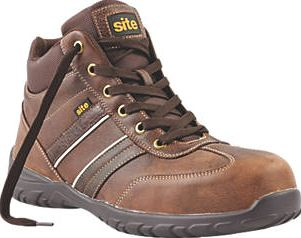 Site, 1228[^]32569 Grit Safety Boots Brown Size 12 32569