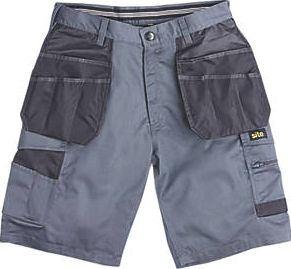Site, 1228[^]6581F Hound Multi-Pocket Shorts Grey / Black 34``