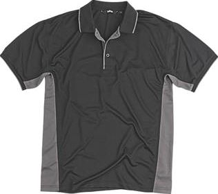 Site, 1228[^]90528 Moisture Wicking Polo Shirt Black Large