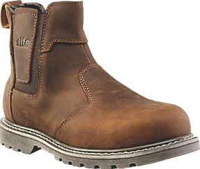 Site, 1228[^]5063D Mudguard Dealer Safety Boots Brown Size 8