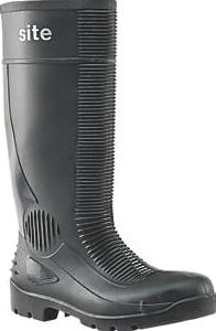 Site, 1228[^]99211 Trench Safety Wellington Boots Black Size 8