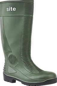 Site, 1228[^]40281 Trench Safety Wellington Boots Green Size