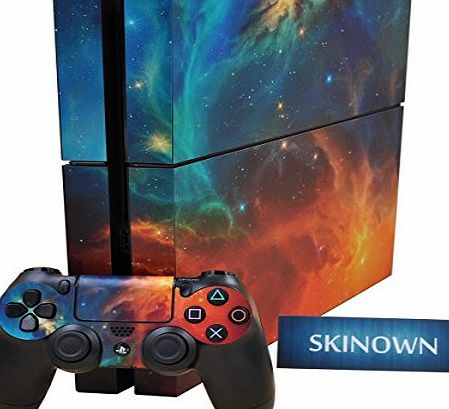 SKINOWN PS4 Skins Cosmic Nebular Sticker Vinly Decal Cover for Sony PS4 PlayStation 4 Console and Controller