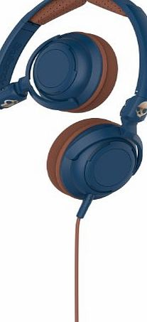 Skullcandy Lowrider On-Ear Audio Headphones with Microphone - Navy/Brown/Copper