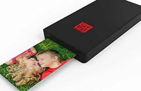 SkyMall Mobile Wi-Fi amp; NFC Photo Printer with Dye Sublimation Printing Technology amp; Photo Preservation Overcoat Layer (Black)