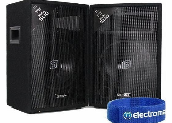 Skytec 2x Skytec 10`` Passive 2-Way DJ PA Speakers 1000W product image