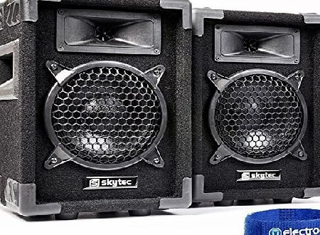 Skytec MAX6PAIR Retro Speaker Set Full Range 6`` 300 Watt Pair Bedroom DJ Disco Party