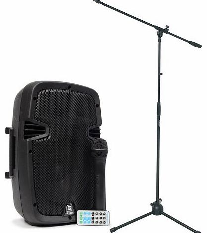 Skytec PA Active 8`` Speaker System Wireless Microphone Dance Aerobics Stand 350W