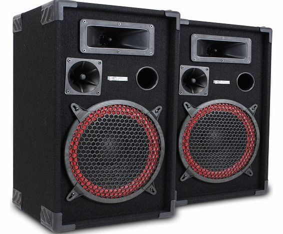 Skytec Pair of Skytec 10`` Passive PA Speakers Disco Party Home DJ Audio Setup 700W product image