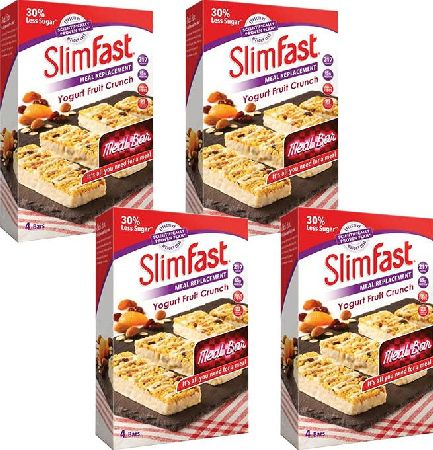 Slim Fast, 2102[^]0139025 SlimFast Yogurt Fruit Crunch 4 Packs of 4 x 60g