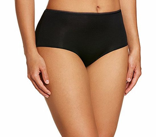 Sloggi Womens Feel Sensational Short Plain Brief, Black, Size 16