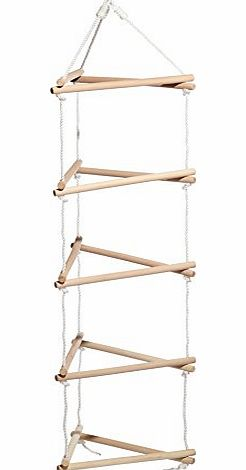 Small Foot Wooden 3 Sided Climbing Frame Rope Ladder product image