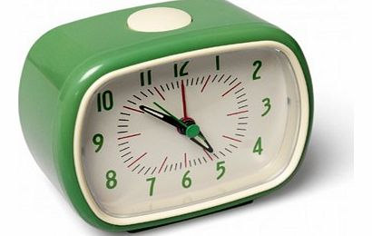 Retro alarm clock - green `One size