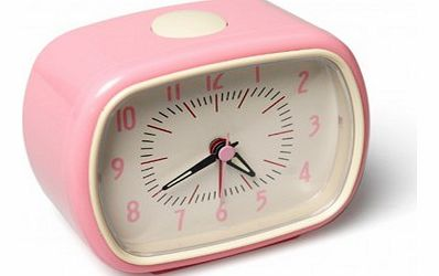 Retro alarm clock - pale pink `One size