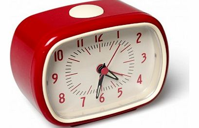 Retro alarm clock - red `One size