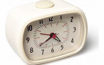 Retro alarm clock - white `One size