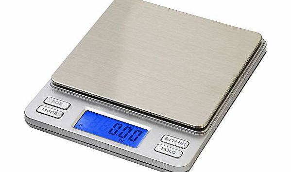 Smart Weigh 500 x 0.01g Digital Pro Pocket Scale with Back-Lit LCD Display, Tare, Hold and PCS Features (2 Lids Included) product image