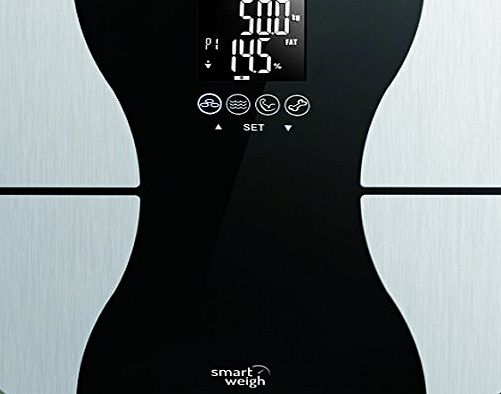 Smart Weigh Body Fat Digital Precision Scale with Tempered Glass Platform, Eight User Recognition, and 200 kg Weight Capacity, Measures Weight, Body Fat, Water, Muscle and Bone Mass product image