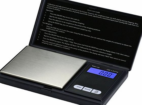 Smart Weigh SWS100 Elite Digital Pocket Scale 100 x 0.01g - Black