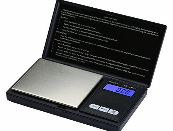 Smart Weigh SWS600 Elite Pocket Sized Digital Scale - Black product image