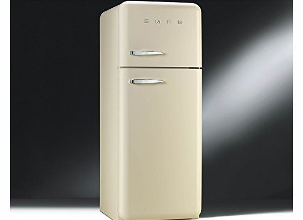 FAB30RFC Fifties Style Right Hand Hinge Top Mount Freestanding Fridge Freezer - Cream