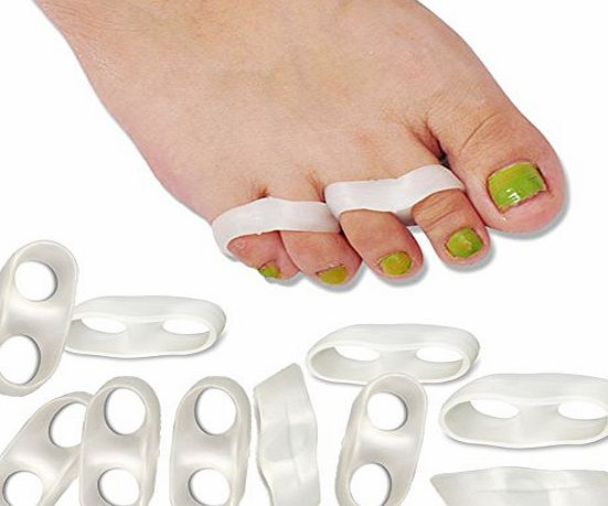 SMFHealth Hammer Toe Straightener,Overlapping Toes,Bunion and Toe Separator Orthotics(5 Pairs Small)