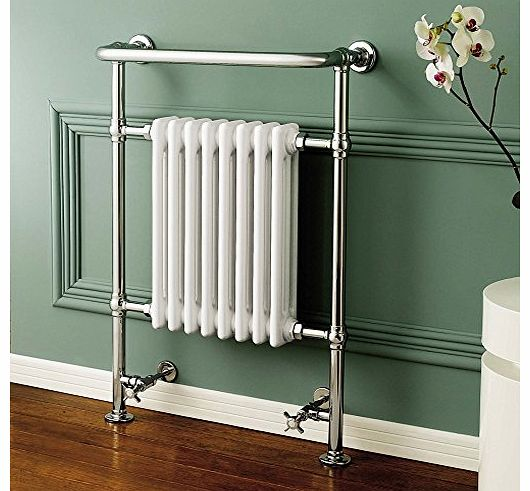 SMH Vecchio Victorian Style Heated Chrome Bathroom Column Towel Rail Radiator 952 x 659 mm product image