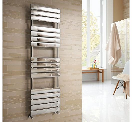 SMH Vicenza Designer Flat Chrome Heated Bathroom Towel Rail Radiator 1600 x 450 mm product image