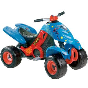 Smoby spiderman xbee quad cycling review compare prices buy online - Quad spiderman ...