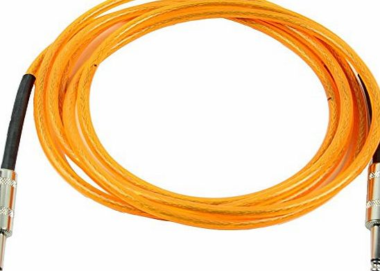 SODIAL(R) 3M Orange Guitar Cable Amplifier Amp Instrument Lead Cord
