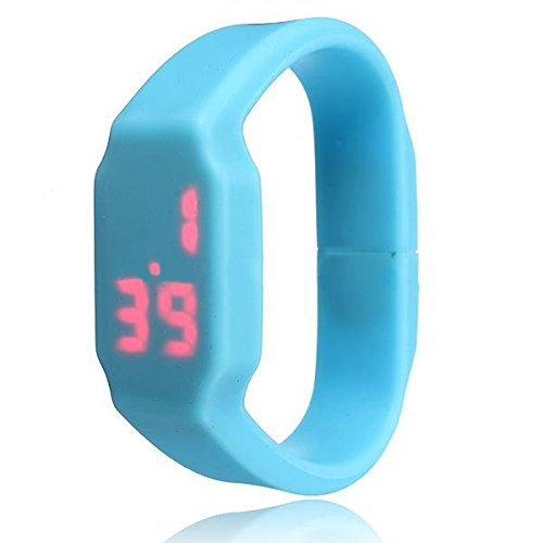SODIAL(R) Blue Waterproof LED Sport Watch Wristband USB Memory Flash Stick Pen Drive 16G product image