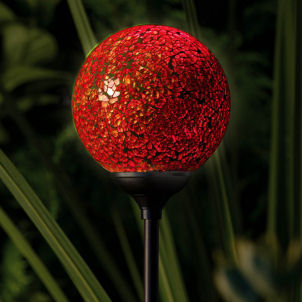 Garden Globe Colour Changing Light - andlsquo;Murano Sunset`
