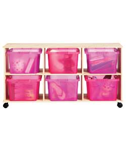 solid Pine 3 x 2 Toy Storage Unit product image