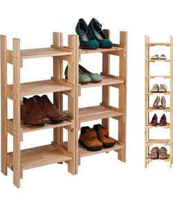Solid Pine Tall Shoe and Boot Storage Rack product image