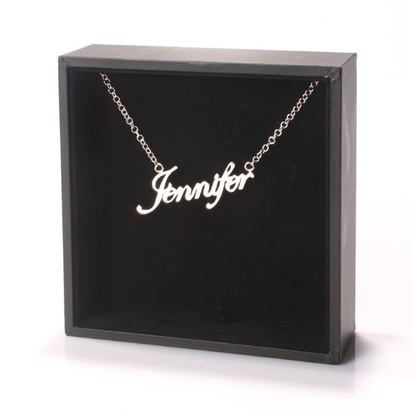 Silver Name Necklace Name Between 9-12