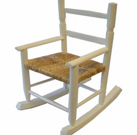 Somerset Levels White Wooden Childs Rocking Chair product image