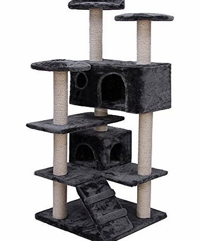 Songmics-Haustierbedarf Songmics Cats Climb Trees, Cat Climbing Frame, Cat litter about 132CM Grey PCT36G product image