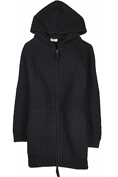 Navy blue wool oversized cardi-coat with a hood. - CLICK FOR MORE INFORMATION