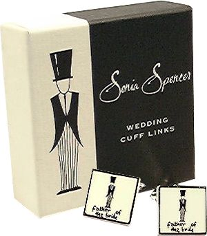 Sonia Spencer Father of the Bride cufflinks