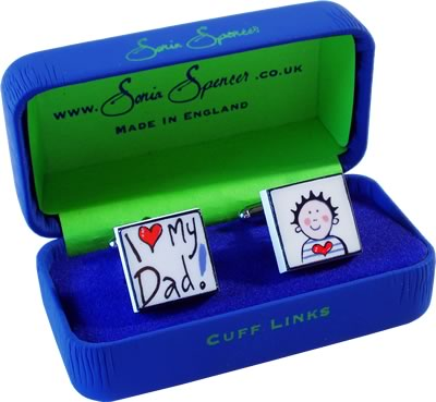 Sonia Spencer I Love My Dad Cufflinks product image