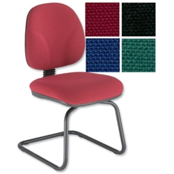 Choices Cantilever Visitors Chair Burgundy