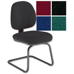 Choices Cantilever Visitors Chair Charcoal