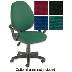 Desire High Back Operators Chair Green
