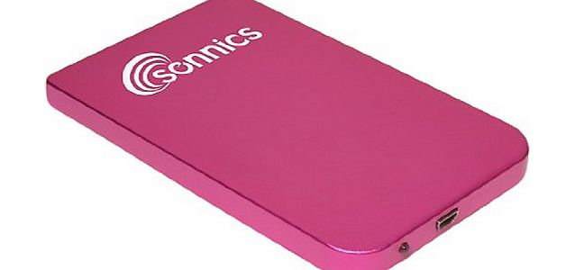 Sonnics 120GB USB 2.0 NTFS Portable External Hard Drive Storage - Pink product image