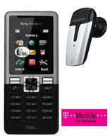 T280i + Free Bluetooth Headset T-Mobile Pay as you Go Talk and Text