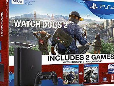 Sony Interactive Entertainment Europe Limited Sony PlayStation 4 500GB Watchdogs 2 Bundle